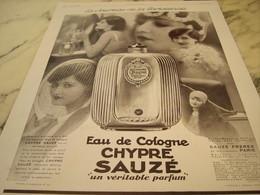 ANCIENNE PUBLICITE JOURNEE DE LA PARISIENNE PARFUM LE CHYPRE DE VIOLET 1929 - Perfume & Beauty