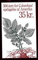 1992 EUROPA CEPT EUROPE Danimarca Denmark Libretto 500° SCOPERTA AMERICA Di 10v. MNH** Piante Plants Booklet - Europa-CEPT