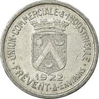 Monnaie, France, Union Commerciale Et Industrielle, Frévent, 5 Centimes, 1922 - Monétaires / De Nécessité