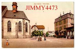 POFTKARTE - Drei Aehren, Bien Animée En 1909 - TROIS EPIS ( Canton De Colmar ) 68 Haut Rhin - Edit. E. Weiss Magasin - Trois-Epis