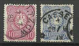 Deutsches Reich 1875/1879 Michel 33 - 34 O - Germany
