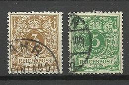 Deutsches Reich 1889 Michel 45 - 46 O - Germania