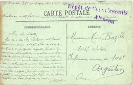 GUERRE 14-18 DÉPÔT DE CONVALESCENTS ALENÇON - ORNE - Du 20-1-1915 => Infirmerie Annexe Du 104e ARGENTAN - Storia Postale