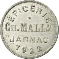 Monnaie, France, Epicerie, Ch.MALLAT, Jarnac, 25 Centimes, 1922, TTB+ - Monétaires / De Nécessité