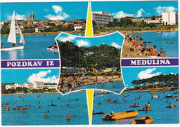 Medulin: RENAULT 4, CAMPING - WATERSPORTS - 'Pozdrav Iz Medulina' -  (Croatia, YU.) - Toerisme