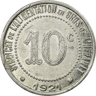 Monnaie, France, Syndicat De L'Alimentation En Gros De L'Hérault, 10 Centimes - Monétaires / De Nécessité