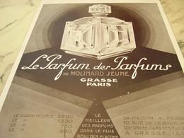 ANCIENNE PUBLICITE LE  PARFUM DES PARFUMS  MOLINARD 1929 - Perfume & Beauty