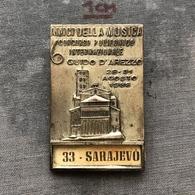 Badge Pin ZN008563 - Music Italy Amici Della Musica Guido D'Arezzo International Polyphonic Event Yugoslavia Sarajevo - Music