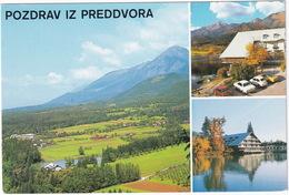 Preddvora: NSU PRINZ 1000, OPEL KADETT B, REKORD C SPRINT COUPÉ, ZASTAVA 600 - Hotel 'Bor-Grad Hrib' -  (Slovenia, YU.) - Toerisme