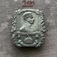 Badge Pin ZN008568 - Karl Franz Joseph Ludwig Hubert Georg Otto Maria (V. Károly, Charles I&IV) Austria Hungary - Army
