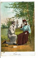 CPA - Carte Postale-Belgique Couple L'homme à Genou Devant Une Jeune Femme-1905 VM4683 - Couples
