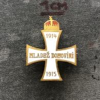 Badge Pin ZN008573 - Army (Military) Austria Hungary Croatia (Hrvatska) Mladez Domovini 1914-1915 - Army