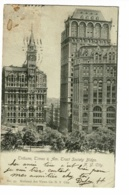 Tribune, Times & Am Tract Society Bldgs - N.Y. City - Circulé 1906, Timbre Decollé - New York City