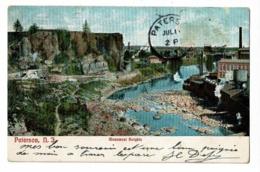 Paterson, N.J. - Monument Heights Colline, Rivière, Usines, Cheminées - Circulé 1907 - Paterson