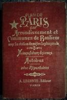 Plans De PARIS Par Arrondissement - Nomenclature  Des Rues Avec Station Du Métro La + Proche - A. Leconte éditeur - 1956 - Cartes/Atlas