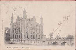 Vroege Postkaart Kasteel Van Olsene Chateau D' Stempel Afgestemepld Nazareth - Zulte