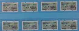 Set Of 8 Black Imprint 2015 ATM Frama Stamps-TAIPEI Stamp Exhi.-Taiwan Trout Fish Unusual - Marine Life