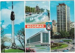 Beograd: OPEL KAPITÄN P1, ZASTAVA 600, TRAM - Hotel Slavija' - Televison Tower - (Serbia, YU.) - Toerisme