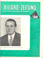 BILLARD - ZEITUNG Nr 5 De  1958 .(jm) - Sport