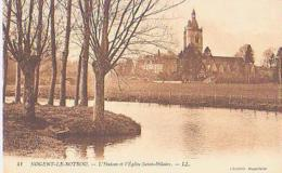 Nogent Le Rotrou    420       L'Huisne Et L'église Saint Hilaire - Nogent Le Rotrou