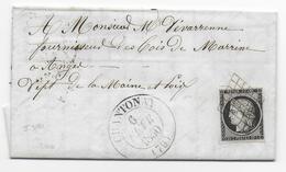 1850 - VENDEE -  CERES 20c Sur LETTRE De CHANTONAY Avec GRILLE + T13 - IND 20 - Postmark Collection (Covers)