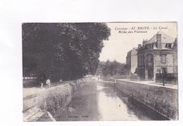 CPA DPT 19 BRIVE, LE CANAL, ALLEE DES PLATANES En 1930! - Brive La Gaillarde