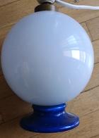 Lampe Opaline Avant 1950  Avec Cable Interrupteur Et Douille - Luminaires