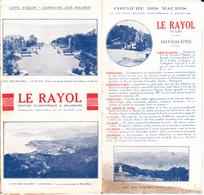 VP-GF 19-266 : LE RAYOL VAR. - Dépliants Touristiques