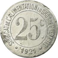 Monnaie, France, Syndicat De L'Alimentation En Gros De L'Hérault, 25 Centimes - Monétaires / De Nécessité