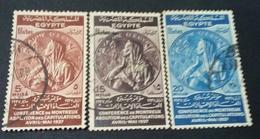 EGYPT 1937 , TREATY OF MONTREUX , MI 234-236 , VF - Égypte