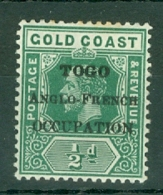Togo: 1916/20   KGV (Gold Coast) 'Togo Anglo-French Occupation' OVPT   SG H47    ½d   MH - Unused Stamps