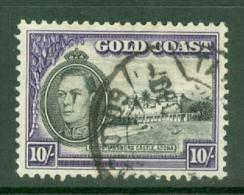 Gold Coast: 1938/43   KGVI   SG132    10/-       Used - Costa D'Oro (...-1957)