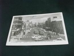 AUSTRALIA VIC.  MELBOURNE BOURKE ST. FROM THE PARLIAMENT HOUSE STEPS AUTO CAR TRAM - Melbourne