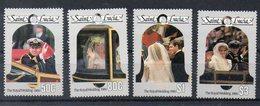 SAINTE LUCIE  Timbres Neufs ** De 1986  ( Ref 555AC ) Famille Royale - Mariage - St.Lucie (1979-...)