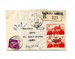 Lettre Recommandée Caen Annexe 1 Sur Chateau Comminges - Postmark Collection (Covers)