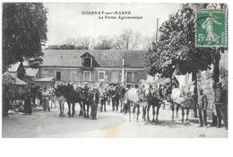 Gournay-sur-Marne....la Ferme Agronomique...(la Cour)...chevaux...animée..1914.. - Fermes