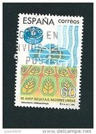 N°  2972 Cinquantenaire De La FAO Organisation Pour L'Alimentation Et L'Agriculture Timbre  Espagne Oblitéré 1995 - 1931-Today: 2nd Rep - ... Juan Carlos I