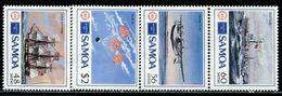 AF0893 Samoa 1986 Aircraft And Ships 4V MNH - Samoa