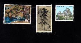 802318667 1969 SCOTT 1001 1002 1003 POSTFRIS MINT  NEVER HINGED EINWANDFREI (XX) NATIONAL TREASURES OF MOMOJAMA PERIOD - 1926-89 Empereur Hirohito (Ere Showa)