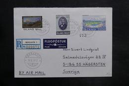 ISLANDE - Enveloppe En Recommandé De Reykjavík Pour La Suède En 1972 , Affranchissement Plaisant - L 35048 - 1944-... Repubblica