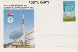 Northern Cyprus 1988 European Communication Year Postal Stationery Unused (43543) - Europese Gedachte