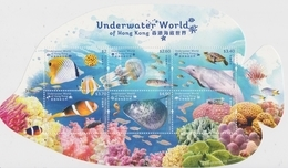Hong Kong 2019 Underwater World Souvenir Sheet - Unused Stamps