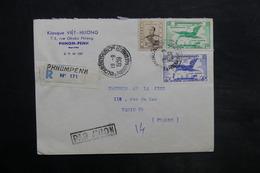 CAMBODGE - Enveloppe Commerciale En Recommandé De Phong - Penh Pour La France En 1959 - L 35049 - Cambodge