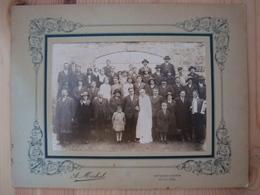 PHOTO DE MARIAGE DE A. MICHEL SAINT-GERVAIS D'AUVERGNE PUY-DE-DÔME 16 AVRIL 1932 - Anonieme Personen