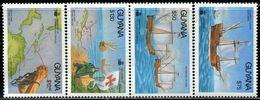 AF0901 Guyana 1992 Columbus Nautical Ship Map, Etc. 4V MNH - Guyane (1966-...)