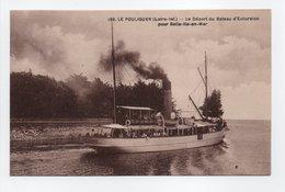 - CPA LE POULIGUEN (44) - Le Départ Du Bateau D'Excursion Pour Belle-Ile-en-Mer - Edition Chapeau 186 - - Le Pouliguen