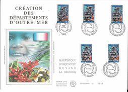 France FDC - Création Des Départements D'Outre Mer - Grand Format - 1996 - 1990-1999