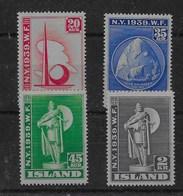 Serie De Islandia Nº Yvert 182/85 * - Nuevos