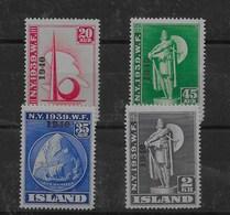 Sello De Islandia Nº Yvert 188A/D ** - Nuevos