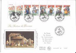 France FDC - Les Santons De Provence - Grand Format - 1995 - 1990-1999